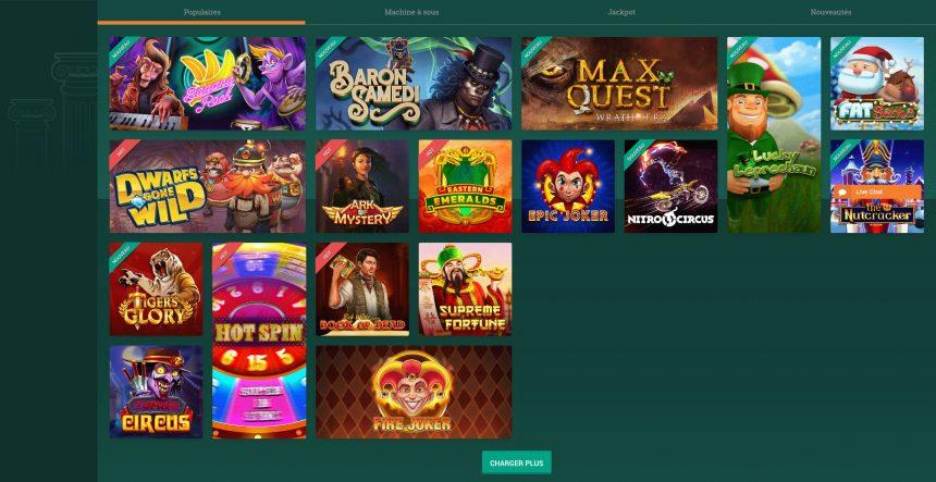 Avis sur Cresus casino : un site de jeux hors normes